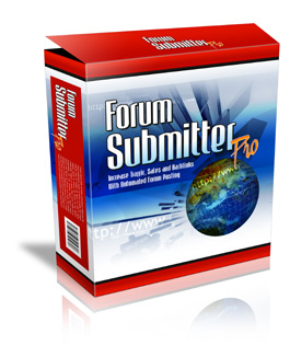 Product picture Forum Submitter Pro !  Increase Your Sales, Traffic and Backlinks That The Search Engines Absolutely Love!